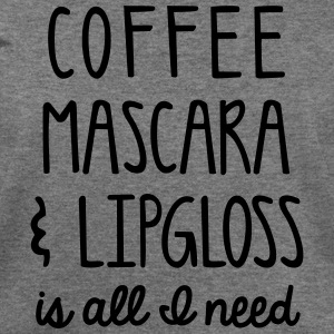 Coffee mascara & lipgloss - Women's Wideneck Sweatshirt
