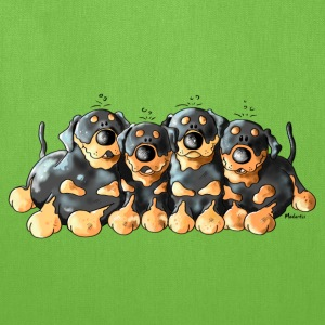 Four Cute Rottweilers Bags & backpacks - Tote Bag