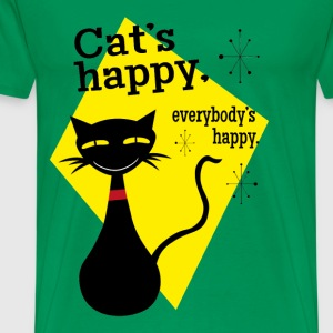 cats happy everybody's happy - Men's Premium T-Shirt
