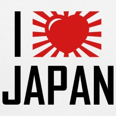 I love Japan coeur T-shirts