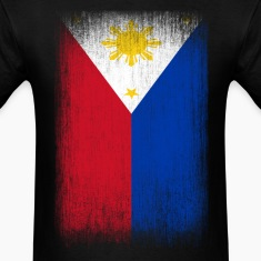 Philippines Filipino Pride Flag Grunge Look T-Shirts