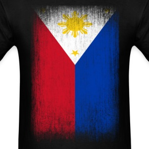 Philippines Filipino Pride Flag Grunge Look T-Shirts - Men's T-Shirt