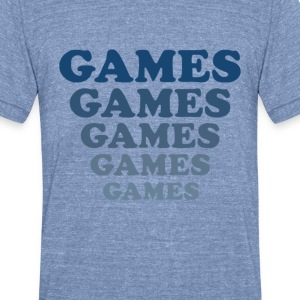 Adventureland – Games Games Games - Unisex Tri-Blend T-Shirt by American Apparel