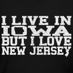 Iowa New Jersey Love T-Shirt Tee Top Shirt Long Sleeve Shirts