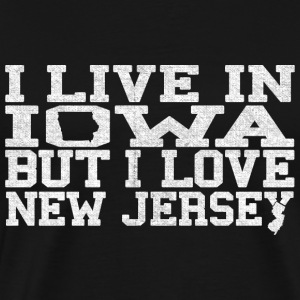 Iowa New Jersey Love T-Shirt Tee Top Shirt T-Shirts - Men's Premium T-Shirt