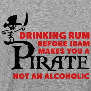 Drinking rum before 10am T-Shirts - Men's Premium T-Shirt
