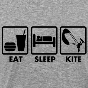 eat sleep kite T-Shirts - Men's Premium T-Shirt