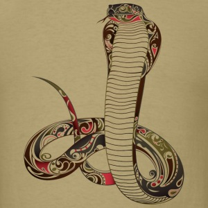 Ornate Cobra Snake - Men's T-Shirt