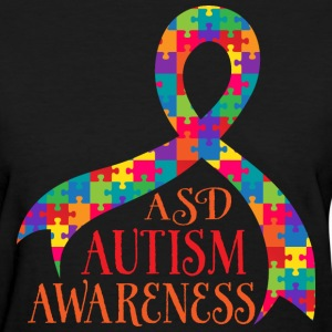 ASD Autism Awareness Puzzle Ribbon Women's T-Shirts - Women's T-Shirt