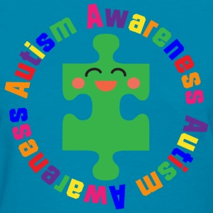 Autism Puzzle Piece Awareness Support Women's T-Shirts - Women's T-Shirt