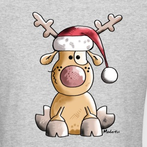 Funny Christmas Reindeer Long Sleeve Shirts - Men's Long Sleeve T-Shirt by Next Level