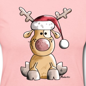 Funny Christmas Reindeer Long Sleeve Shirts - Women's Long Sleeve Jersey T-Shirt