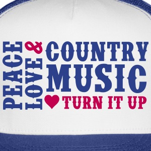 PEACE LOVE AND COUNTRY MUSIC - Trucker Cap