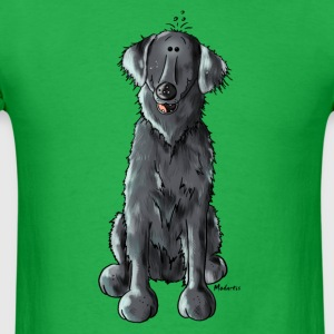 Happy Flat Coated Retriever T-Shirts - Men's T-Shirt