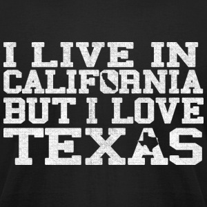 California Texas Love T-Shirt Tee Top Shirt T-Shirts - Men's T-Shirt by American Apparel