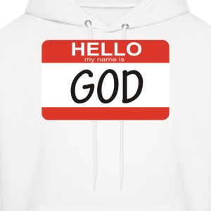 Hello my name is God - Men's Hoodie
