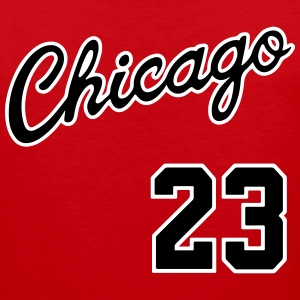 Chicago 23 Script Shirt Tank Tops - Men's Premium Tank