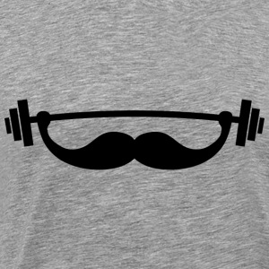 Funny Fitness Mustache Be T-Shirts - Men's Premium T-Shirt