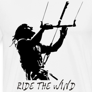 Kite Surf - Ride the Wind T-Shirts - Men's Premium T-Shirt