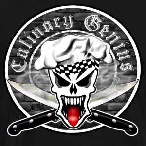 Chef Skull 2.1: Culinary Genius - Men's Premium T-Shirt