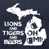 LIONS & TIGERS & BEERS, OH MI! - Men's T-Shirt by American Apparel