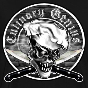 Chef Skull 5: Culinary Genius - Men's Premium T-Shirt