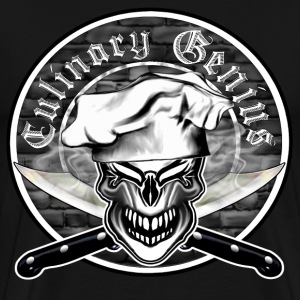 Chef Skull 10: Culinary Genius - Men's Premium T-Shirt