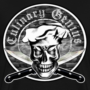 Chef Skull 3.1: Culinary Genius - Men's Premium T-Shirt