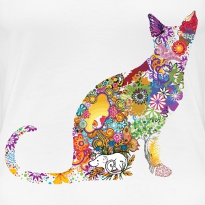 Colourful Cat - Women's Premium T-Shirt
