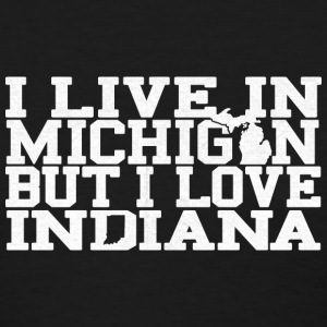 Michigan Indiana Love T-Shirt Tee Top Shirt Women's T-Shirts - Women's T-Shirt