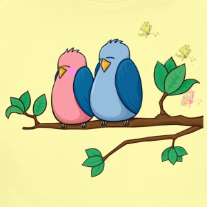 Love bird  - Short Sleeve Baby Bodysuit