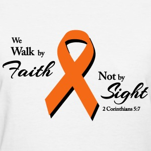 Walk By Faith Multiple Sclerosis  Women's T-Shirts - Women's T-Shirt