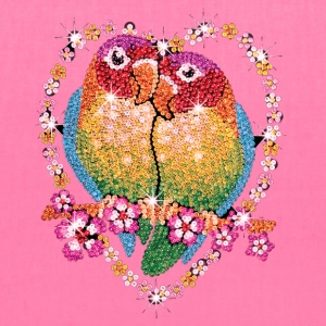 jeweled lovebirds - Tote Bag