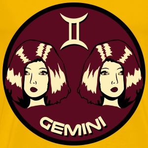 Gemini horoscope gemini girls sad T-Shirts - Men's Premium T-Shirt