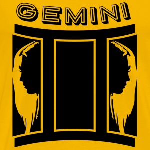Gemini Horoscope Gemini Girls Faces profile T-Shirts - Men's Premium T-Shirt
