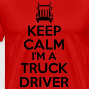 keep calm truck driver T-Shirts - Men's Premium T-Shirt
