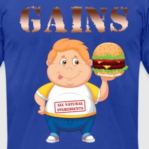 Gains - Swoll Shop T-Shirts - Men's T-Shirt by American Apparel