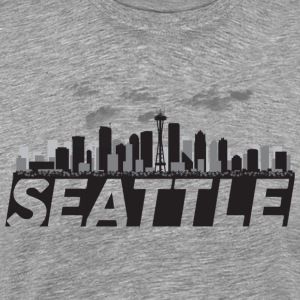 Seattle Washington Skyline Emerald City - Men's Premium T-Shirt