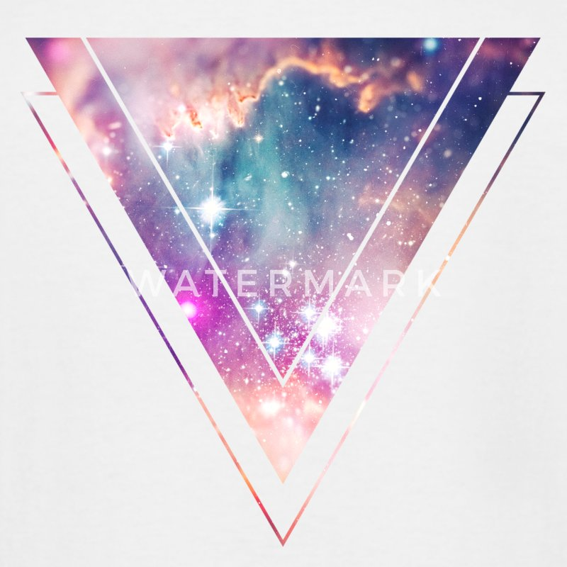 Galaxy - Space - Universe / Hipster Triangle T-Shirts - Men's Tall T-Shirt