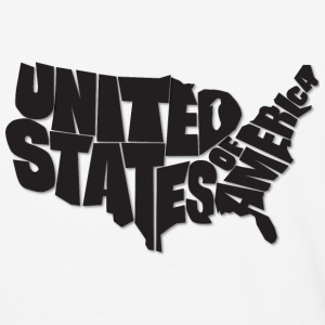 AMERICA. USA Map Art - Baseball Shirt, Black Text - Baseball T-Shirt