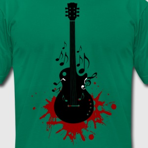 Bloody Guitar - Men's T-Shirt by American Apparel