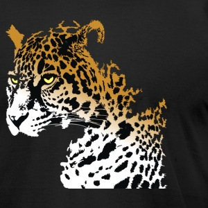 Wild Leopard - Men's T-Shirt by American Apparel