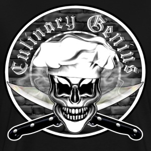 Chef Skull 6: Culinary Genius - Men's Premium T-Shirt