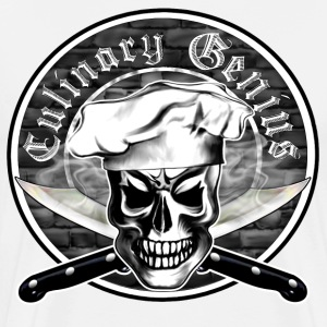 Chef Skull 3: Culinary Genius - Men's Premium T-Shirt