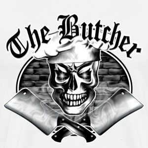 Butcher Skull and Smoking Cleavers 3.1 - Men's Premium T-Shirt