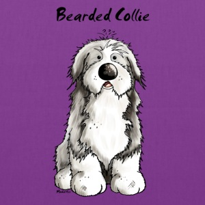 Cute Bearded Collie Dog Bags & backpacks - Tote Bag