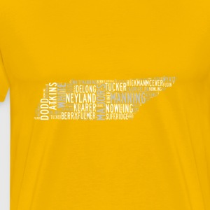All Time Tennessee Football Greats Men's Premium T - Men's Premium T-Shirt