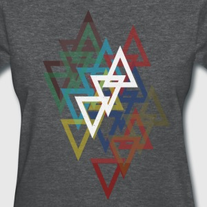 Woman's Geometric Triangle - Women's T-Shirt