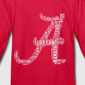 All Time Alabama Football Greats A Design Kid's Lo - Kids' Long Sleeve T-Shirt