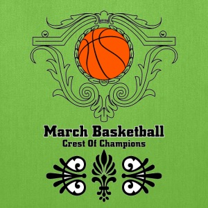 March Basketball Crest Bags & backpacks - Tote Bag